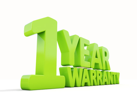 safeguarded: The phrase Warranty on а white background Stock Photo