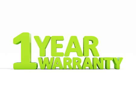 safeguarded: The phrase Warranty on white background