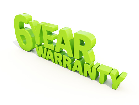 healed: The phrase Warranty on а white background Stock Photo