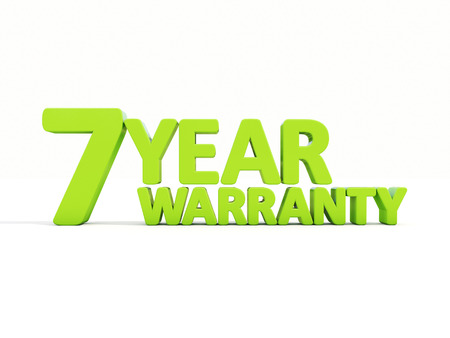 The phrase Warranty on а white background Stock Photo