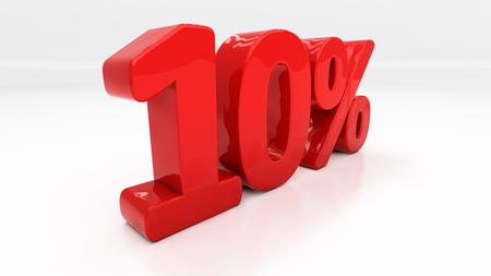 half cent: Ten percent off.