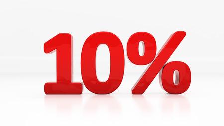 rebate: Ten percent off.