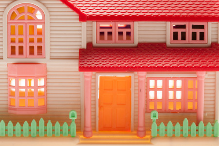 hearthside: Dollhouse close up on a light background