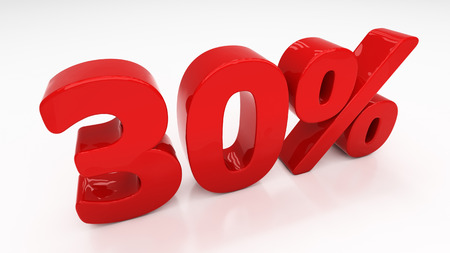 thirty percent off: Thirty percent off. Discount 30.  Percentage. 3D illustration