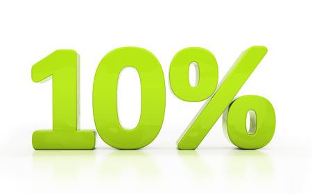 compounding: Ten percent off. Discount 10. 3D illustration
