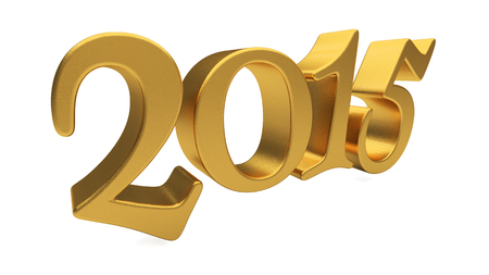 year 3d: New 2015 Year 3d text on white background Stock Photo