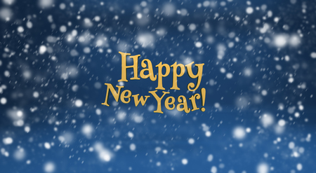 snows: Happy New Year and snow. Design elements for holiday cards Stock Photo