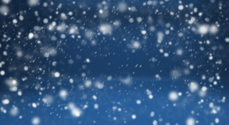 sleet: Winter blue background with snow. Design elements for holiday cards Stock Photo