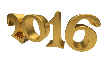 year 3d: New 2016 Year 3d text on white background Stock Photo