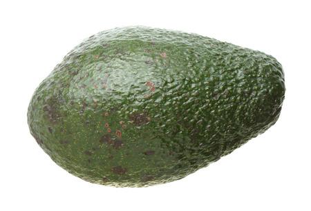 americana: Avocado isolated on white background, Persea americana Stock Photo