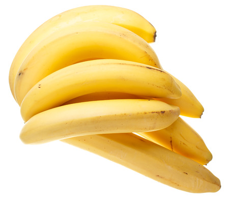 viands: A bunch of bananas isolated on white background