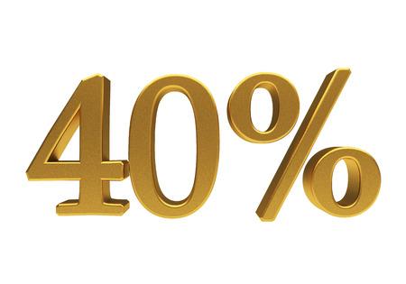 compounding: 40 percent off. Discount 40. 3D illustration