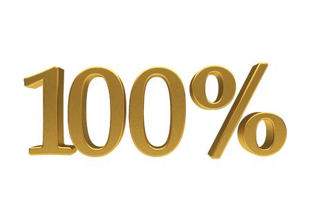 half cent: 100 percent off. Discount 100. 3D illustration
