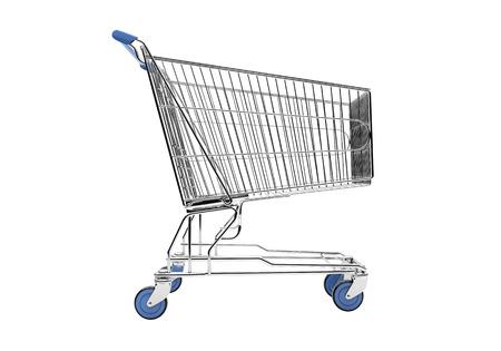 shopping carriage: Empty shopping cart
