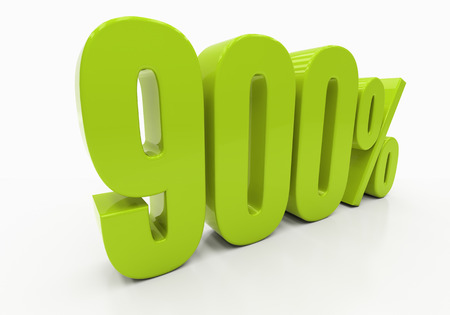 compounding: 900 Percent off Discount. 3D illustration