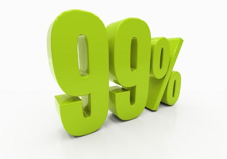99: 99 Percent off Discount. 3D illustration