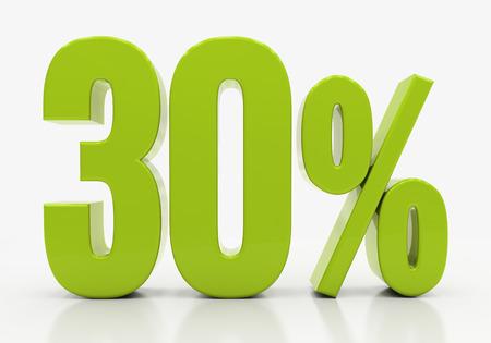 half cent: 30 Percent off Discount. 3D illustration Stock Photo