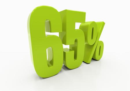 half cent: 65 Percent off Discount. 3D illustration