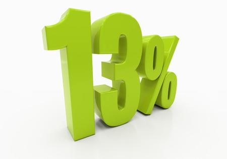 half cent: 13 Percent off Discount. 3D illustration