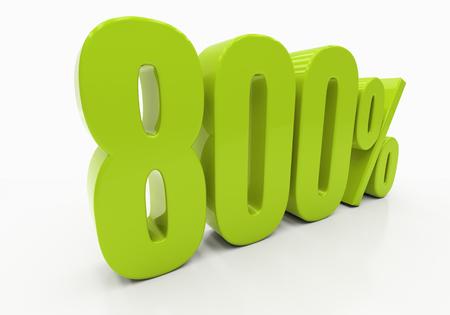 compounding: 800 Percent off Discount. 3D illustration