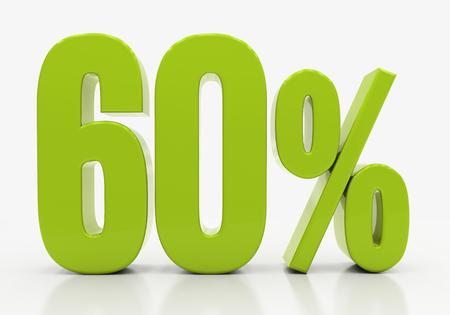 half cent: 60 Percent off Discount. 3D illustration