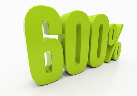 compounding: 600 Percent off Discount. 3D illustration Stock Photo