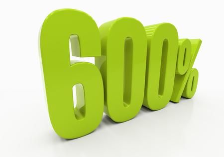 half cent: 600 Percent off Discount. 3D illustration Stock Photo