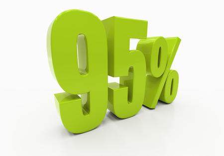 95: 95 Percent off Discount. 3D illustration