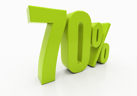 half cent: 70 Percent off Discount. 3D illustration