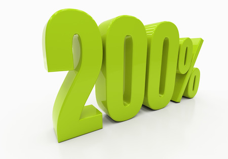 compounding: 200 Percent off Discount. 3D illustration Stock Photo
