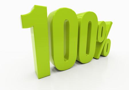 half cent: 100 Percent off Discount. 3D illustration