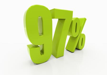 half cent: 97 Percent off Discount. 3D illustration
