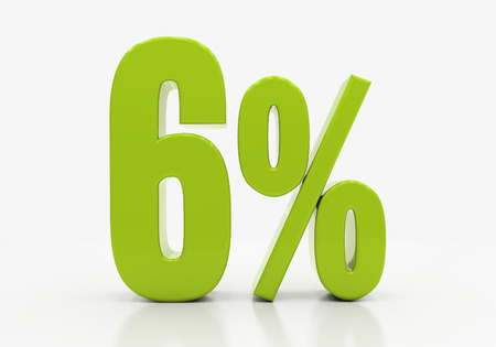 half cent: Percent off. Discount. 3D illustration