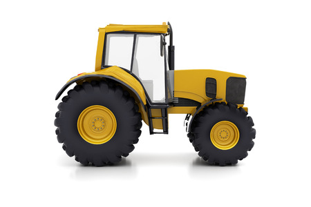 truck tractor: Farm tractor on a white background Stock Photo