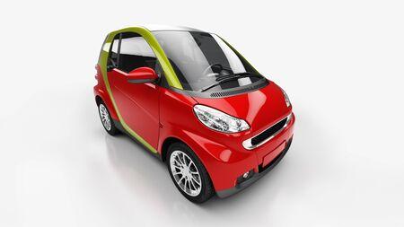 motorcar: Small city car in light studio Stock Photo