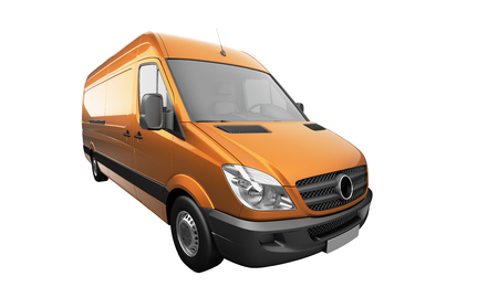 panel van: 3d courier service delivery van icon Stock Photo