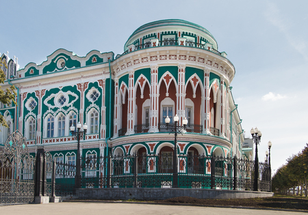 neogothic: An old building in Yekaterinburg, the Neo-Gothic style