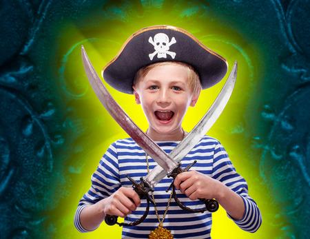 sabre's: Little pirate boy with cutlass
