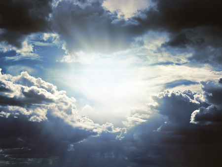 dark clouds: Background of dark clouds before a thunderstorm