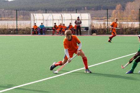 hockey sobre cesped: Russian youth championship 2015 field hockey. October 5, 2015. Team of Ekaterinburg vs team of Rostov region