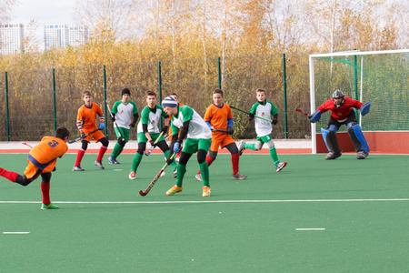 field hockey: Campeonato de la juventud rusa 2015 de hockey sobre c�sped. 5 de octubre de 2015. Equipo de Ekaterinburg contra las personas de la regi�n de Rostov