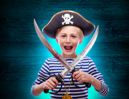 cutlass: Little pirate boy with cutlass