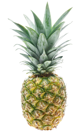 pineapple: Ripe pineapple isolated on white background Stock Photo