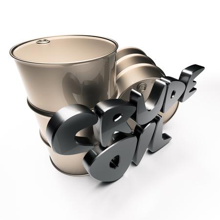 bbl: Inscription Crude oil with barrels