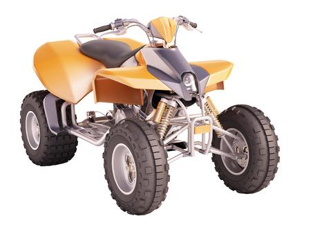 ATV quad bike isolated on white background Фото со стока