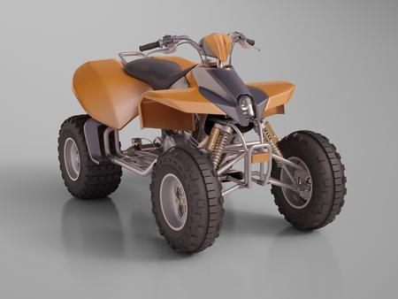 maneuverability: ATV quad bike, studio shooting, soft lighting Stock Photo