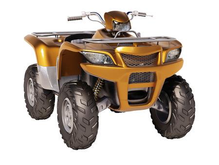 quadrant: ATV quad bike isolated on white background Stock Photo