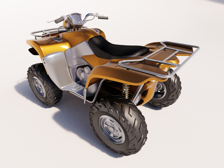 quad: ATV quad bike, studio shooting, soft lighting Stock Photo