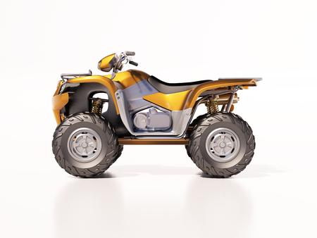 quadrant: ATV quad bike, studio shooting, soft lighting Stock Photo