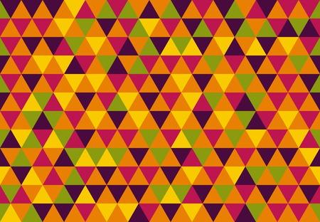 Retro Triangle Pattern sugar mosaic background. Modern art